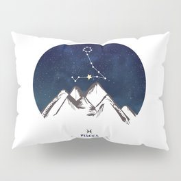 Astrology Pisces Zodiac Horoscope Constellation Star Sign Watercolor Poster Wall Art Pillow Sham