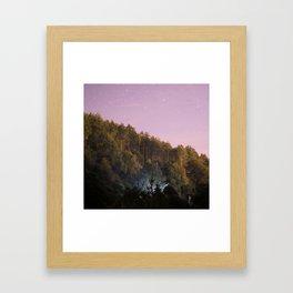 Daynight woodland activities Framed Art Print