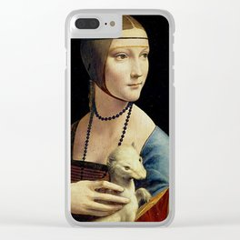 THE LADY WITH AN ERMINE - DA VINCI Clear iPhone Case