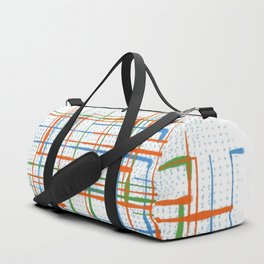 Abstract / Geometry - Colorful Terminal Duffle Bag