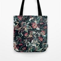 garden Tote Bags featuring Space Garden by RIZA PEKER