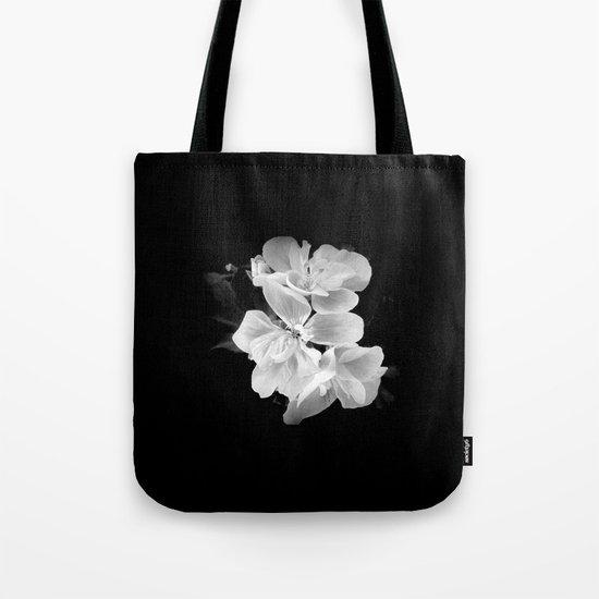 geranium in bw Tote Bag
