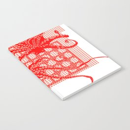 Red Octopus Notebook