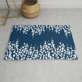 Pussywillow Silhouettes — Midnight Blue Rug