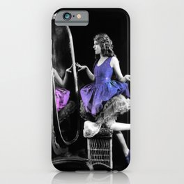 Through the Looking Glass Blue Purple iPhone Case