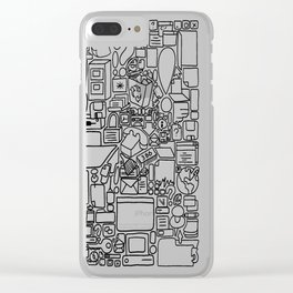 many tasks never finished Clear iPhone Case