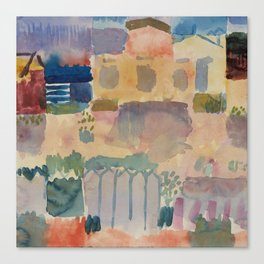 Garden in St Germain A Canvas Print