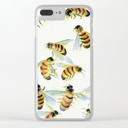 All About Bees Clear iPhone Case
