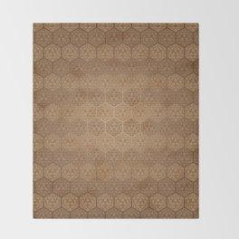 D20 Henna Icosahedron Throw Blanket