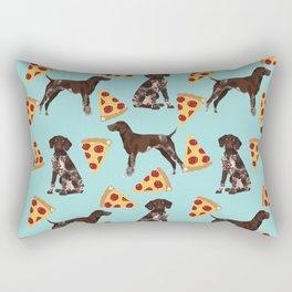 German Shorthair Pointer dog breed pet art pizza slices pattern design by pet friendly dog lovers Rectangular Pillow
