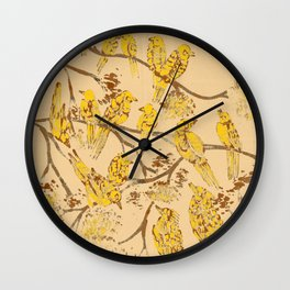 Feathered Friends Batik Wall Clock
