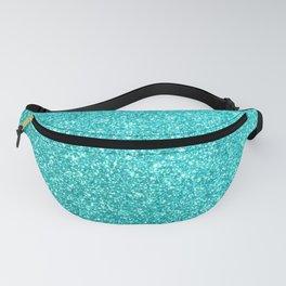 Aqua Blue Glitter Fanny Pack