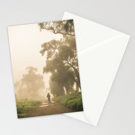 Morning in the fog Stationery Cards