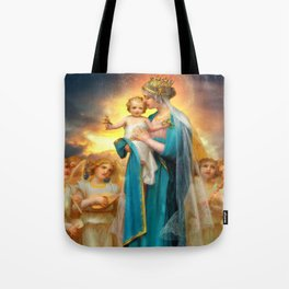 Our Lady of the Angels clouds Tote Bag