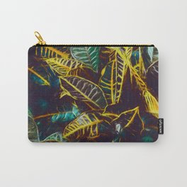 Tropical Leaves Fantasy - A Pattern Carry-All Pouch