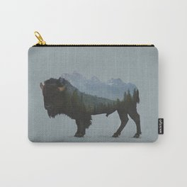 Wyoming Bison Flag Carry-All Pouch