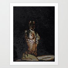 Untamed (woman with tiger features)  Art Print