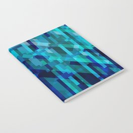 abstract composition in blues Notebook