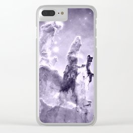 nEbulA Lavender Gray Clear iPhone Case