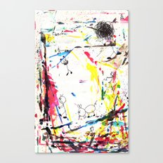 They Enjoy the Color Attack! Canvas Print