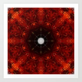 Festive Window Mandala Abstract Design Art Print