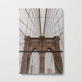 brooklyn bridge | Fine Art Travel Photography Metal Print