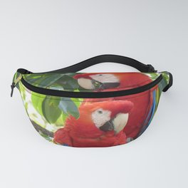 Colorful Macaw Couple Fanny Pack