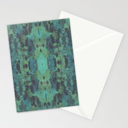 Sycamore Kaleidoscope - Graphite blue green Stationery Cards