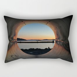View through the tunnel. Rectangular Pillow
