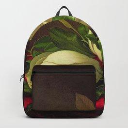 Magnoliae Grandeflorae (Magnolia) on Red Velvet by Martin Johnson Heade Backpack