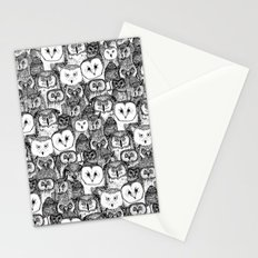 just owls black white Stationery Cards