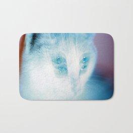 White Cat Bath Mat