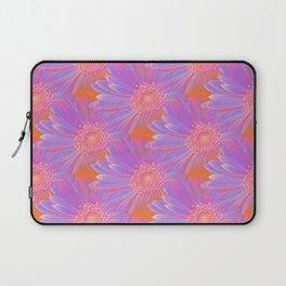 Gerbera Flower Pattern in Purple And Orange Laptop Sleeve