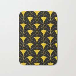 Casablanca Gold and Black Art Deco Design Bath Mat