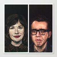 portlandia Canvas Prints featuring Portlandia Celebrated in Black Velvet by Gil Corral