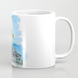 Watercolor landscape with windmill Holland. Coffee Mug