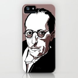 Stravinsky Russian Composer Portrait Art Wall Decor Home House Furniture Frame Music Musician Musica iPhone Case