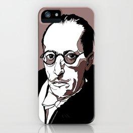 Stravinsky Russian Composer Portrait Art Wall Decor Home House Furniture Frame Music Musician Musica iPhone Case