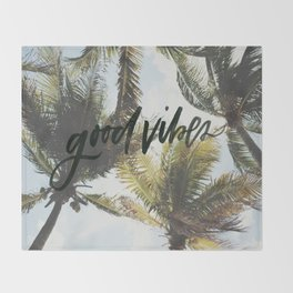 Good vibes Throw Blanket