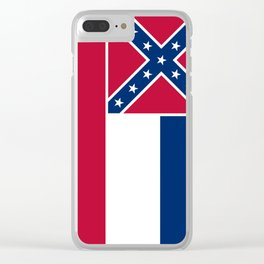 Mississippi State Flag, HQ image Clear iPhone Case