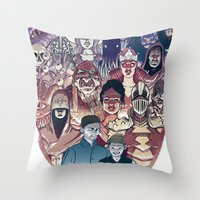 dungeons and dragons Throw Pillows featuring Dungeons & Dragons by Steven P Hughes