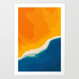 Seascape aerial view Art Print
