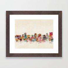orlando florida skyline Framed Art Print
