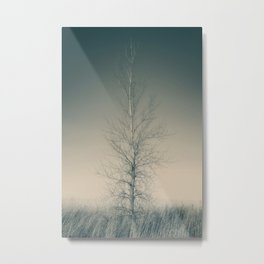 THE LAST TREE (teal) Metal Print