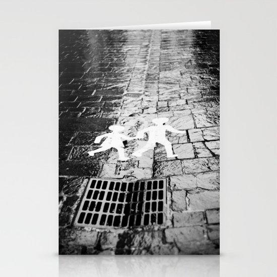 Crosswalk, Brittany, France Stationery Cards