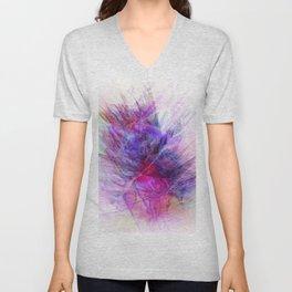 Digital Floral Abstract Unisex V-Neck