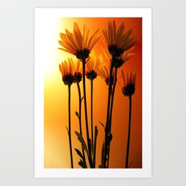 wittle fwowers Art Print