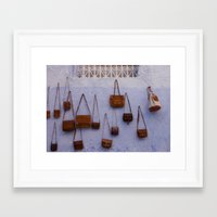 leather Framed Art Prints featuring Leather by Marie von Hafften