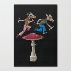 Giraffe Heads Canvas Print