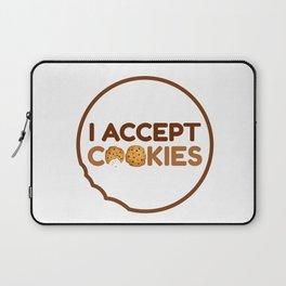 I Accept Cookies Laptop Sleeve